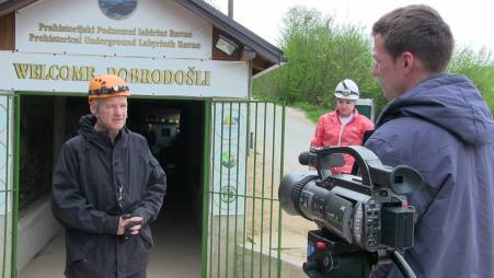 Preparando al equipo de cámara
