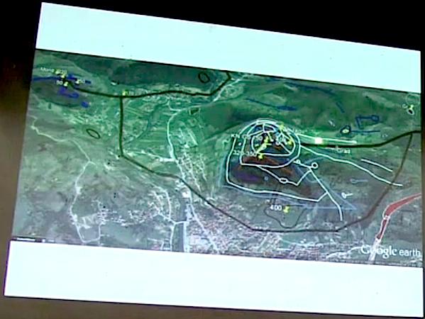 Una imágen muy clara de la conexión subterránea entre la pirámide del Sol y la pirámide de la Luna