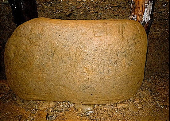 Stone of Runes in Ravne tunnel.jpg