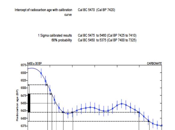 Certificado de datación carbono 14
