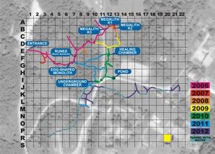 La red de túneles del Laberinto de Ravne
