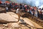 Bloques de hormigón artificial sobre la gran Pirámide del Sol de Bosnia