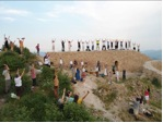 Solsticio de verano sobre la cumbre de la pirámide del Sol de Bosnia