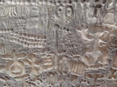 Un panel de la pre-historia de unos 8.000 años