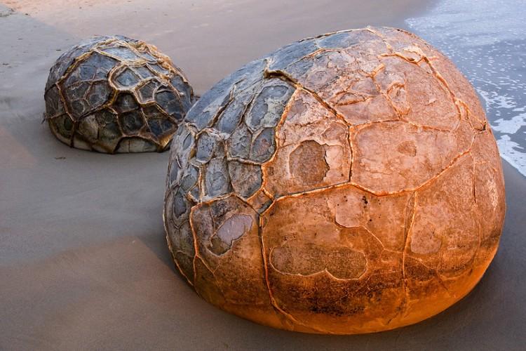 Parece un gigantezco huevo de un animal prehistórico
