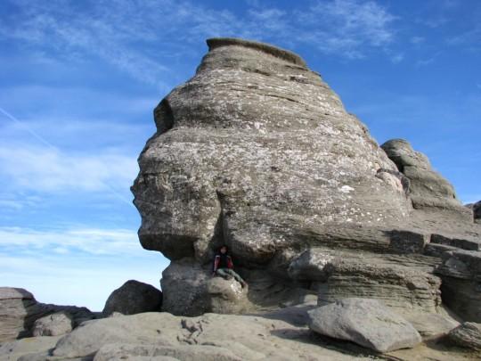 La esfinge de Babele en Rumania, en el Parque Nacional de Bucegi