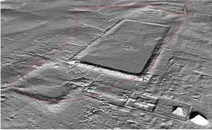La antigua ciudad Koh-Ker - escaneada a través del instrumento laser Lidar