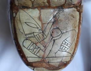 Parte inferior de la pieza del Chac-Molet