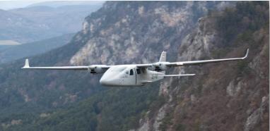 Avión LiDAR construido en Dinamarca, para capturar datos para el modelo impreso 3D.
