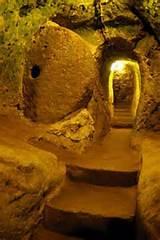 Derinkuyu - pasillo subterráneo / Capadocia en Turquía