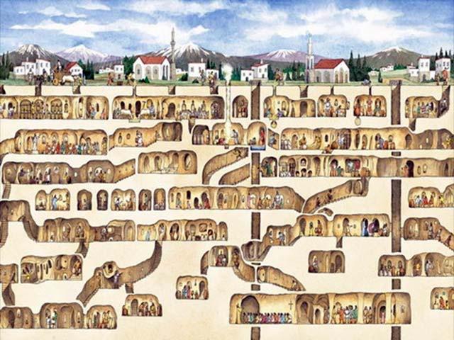 La ciudad intraterrena Derinkuyu / Turquía