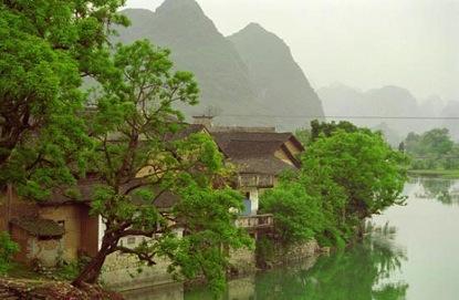 Uno de los lagos de Longyou