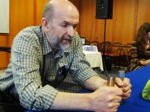 Rade, durante la conferencia que dio en Sarajevo el 17 de junio 2014