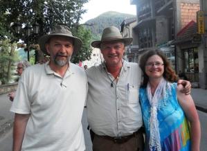 Radmilo Aničić, Dr. Semir Osmanagić y Vesna Nikolić en Visoko / Bosnia