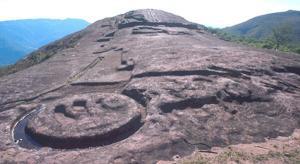 Vista sobre el fuerte de Samaipata en Bolivia