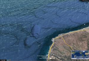 La posible base submarina se encuentra en frente de El Descanso CA