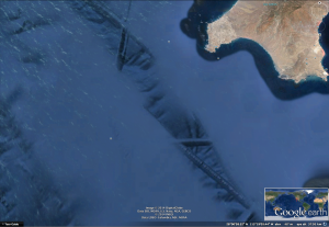Túneles submarinos, Isla Cedros, Baja California 27º53´22.71´´N   114º56´56.53´´W -  elev -48m  - eye alt 64.68 km