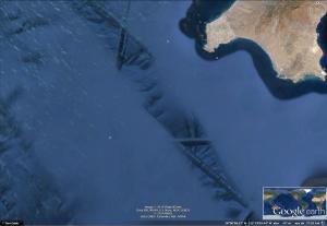 Túneles submarinos cerca de la Isla Cedros, Baja California, México