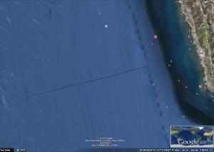 Túnel submarino artificial saliendo de una galería bajo la placa tectónica americana hacia el Pacífico?