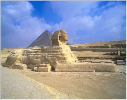 La esfinge en Giza/ Cairo