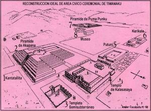 Un plano de las construcciónes excavadas