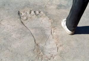 Ain Dara en Siria, antigua huella de un pie de un gigante