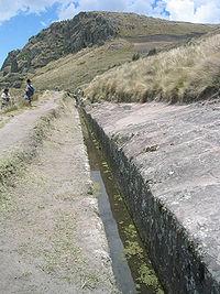 Una parte recta del acueducto