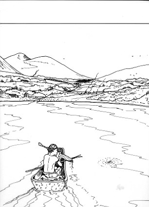 Una impresión artística de la vida en Doggerland, de la Universidad de St Andrews