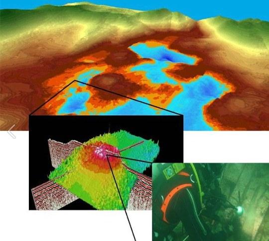 Mundo Ahogado: Escaneos muestran un montículo descubierto bajo el agua cerca de Orkney, que ha sido explorado por los buzos