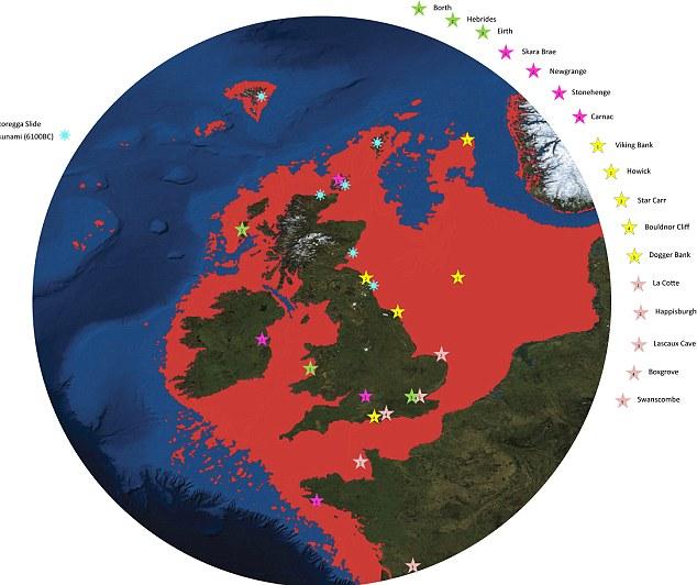 Una Gran Bretaña mas grande : Cómo el Mar del Norte creció y la masa de tierra se encogió.