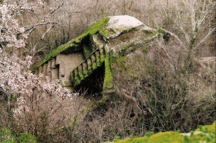 Figura 1. Pirámide-Altar etrusco en Bomarzo - Italia,  fotos del álbum en Facebook de Tina Frigerio