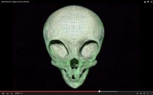Una reconstrucción del cráneo ET
