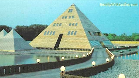 La pirámide dorada de Illinois EEUU