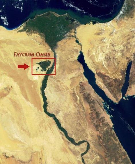 A.Mapa de Egipto y el Oasis de Fayoum