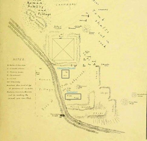 E.Mapa de Petri después de 10 años de excavaciones en Egipto- 1881-1891
