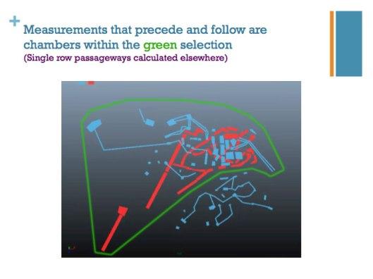 I.  Se han medido cada una de Ias cámaras dentro del círculo verde