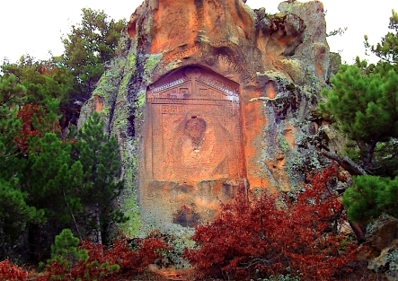 The monument carved on a rock is located 1500 m north of the Midas City. .jpg