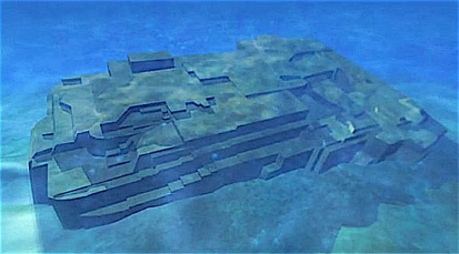 Artist's representation of the Yonaguni Monument. Picture taken from The History Channel_edited-1.jpg